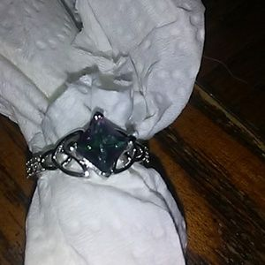 Jewelry - Sterling Silver Square High Quality Mystic Ring Be